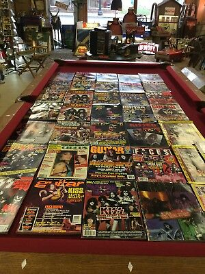 Lot of KISS Magazines Vintage Lot With Some Rare Magazines