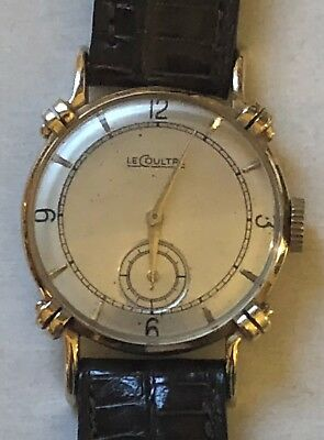 dc56f0261f1b JAEGER LECOULTRE 14K SOLID GOLD MASTER MARINER Automatic Vintage ...