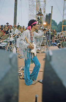 Jimi Hendrix Poster Woodstock 1969 24x36 inch rolled wall poster
