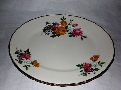 """Ridgway 14"""" Serving Platter Chateau Rose Staffordshire Pink/Yellow Free Shipping"""