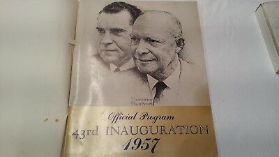 OFFICIAL PROGRAM 43RD INAUGURATION of DWIGHT D. EISENHOWER and RICHARD M. NIXON