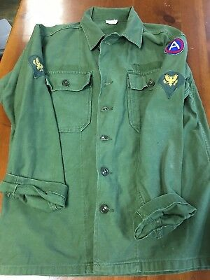 1st pattern exposed buttons jacket army vietnam jungle combat shirt US military