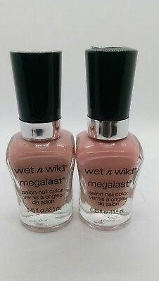 (2 Pack) Wet n Wild MegaLast Salon Nail Color #204B ~ Private Viewing
