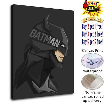 "12""x14""Super hero Batman HD Canvas print Painting Home Decor Picture Wall art"