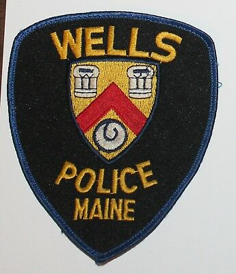 WELLS POLICE Maine ME PD Used Worn patch