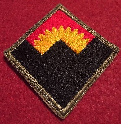 WW2 U.S. Army AA Artillery Western Defense Command OD Border White Back Patch