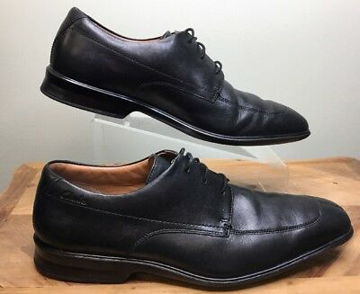 9ce9baa4c26 CLARKS Men s Flexlight Oxford Black Leather Size 10.5 M Lace-Ups Cond VERY  GOOD