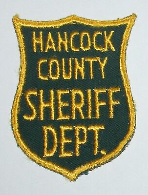 Very Old HANCOCK COUNTY SHERIFF'S DEPT Maine ME Co SD Vintage patch