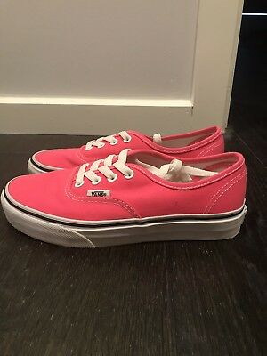 9a3bde1bcb9cb0 HOT PINK VANS Sneakers Shoes Casual Size 6.5 Girls Women s -  25.00 ...