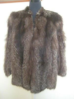 Vintage Silver Fox Fur Coat Jacket. Fits. 14-16