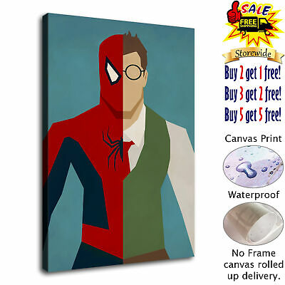 "12""x18""Spiderman HD Canvas prints Painting Home Decor Picture Room Wall art"