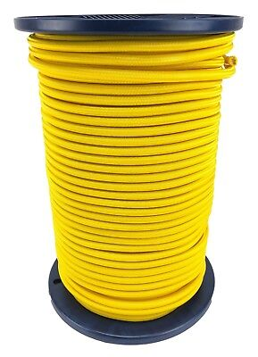 8mm Yellow Elastic Bungee Rope Shock Cord Luggage Tie Down Extra Strong
