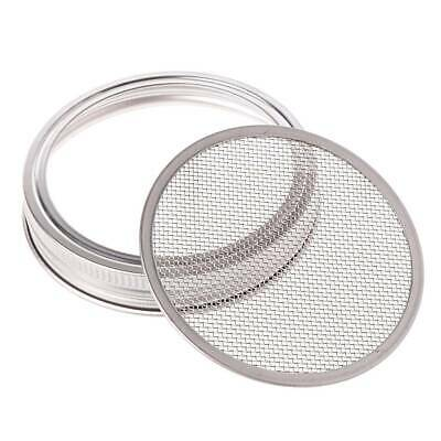 1SET Seed Sprouter Sprouting Mason Jars Stainless Steel Strainer Lids Germinator