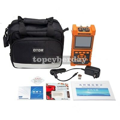 """Handhold Optical Time Domain Reflectometer NK2000 OTDR 3.5"""" LCD w/ Power Adapter"""