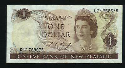New Zealand $1 Banknote KNIGHT C27 788678