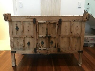 Antique Wood Buffet With Double Doors