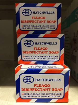Hatchwells Fleago Disinfectant Soap for Dogs - kills Fleas *SAMEDAY DISPATCH*