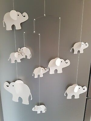 The White Company Elephant Card Cot Mobile