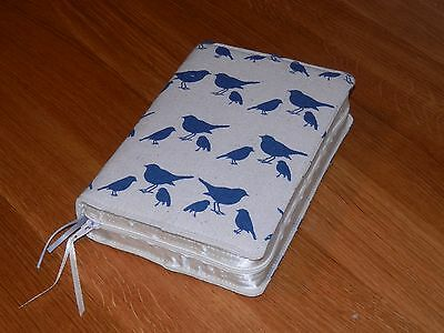 New World Translation 2013 Zipped Fabric Bible Cover - Birds