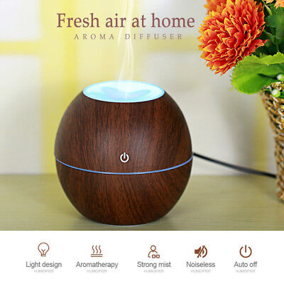 US LED Ultrasonic Aroma Humidifier Essential Oil Diffuser Aromatherapy Purifier