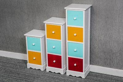 Small White Side Table Narrow Wooden End Lamp Bedside Cabinet Nightstand Modern