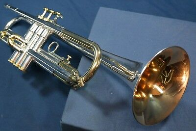 1970s Martin Committee Model T3460 Trumpet, Silver Plate & Gold Trim w/Case,Mpc
