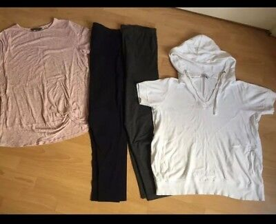 Maternity Clothes Bundle Size L / 16 Tops And Leggings