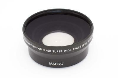 Front lens wide angle black 0.45x Ø 67mm for camera
