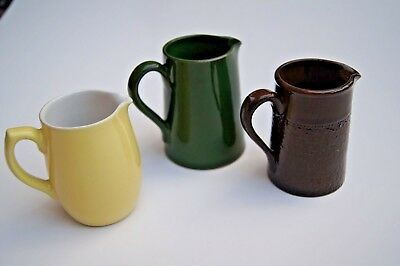 3 Beautiful Small Pottery Jugs - Alcock, Lindley and Bloore Ltd/Langley Mill