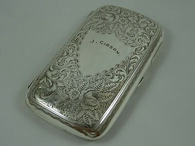 LARGE, solid silver CIGARETTE CASE, 1900, 181gm