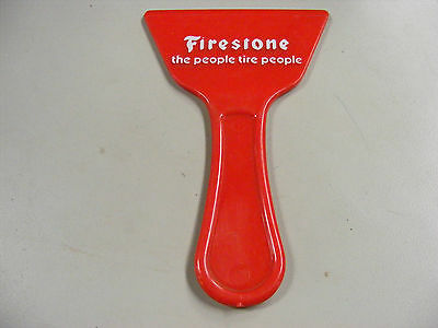 Vintage Plastic Firestone Advertising Ice Scraper