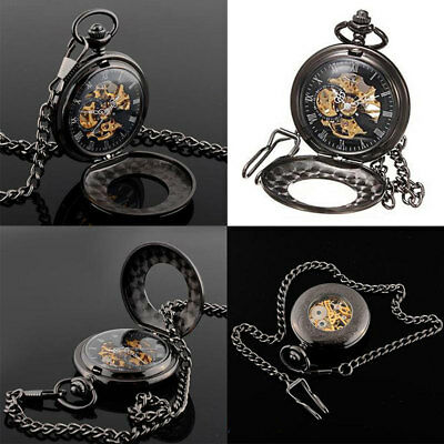 92FC Pocket Watch Sweater Chain Pendant Necklace Hanging Gifts Retro