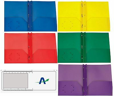 Two Pocket Poly Portfolios, Tear and Moisture Resistant, Pack of 5, 1 of Each...