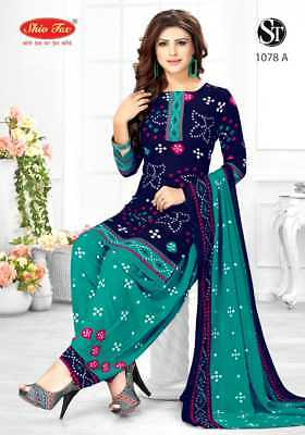 Trendy Latest Crepe Unstitched Salwar Kameez Ethnic Synthetic Bollywood Printed