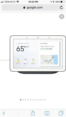Brand New, Sealed Google Home Hub With Google Assistant Home Automation Voice