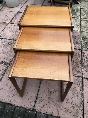 G plan Quadrille nest of tables in the Danish style 1965 To 1975 Labelled