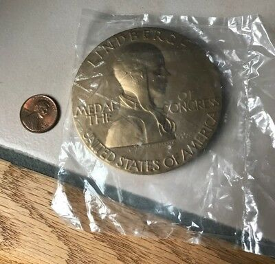 Us Mint~Bronze~Charles Lindbergh~Medal Of The Congress~Signed~Pilot~Aviation