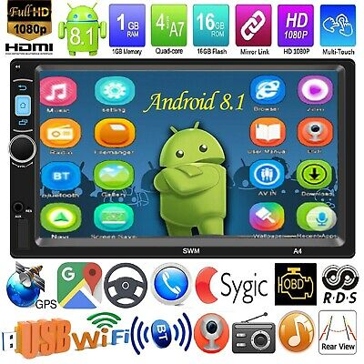 2 DIN 7 '' Touchscreen Android 8.1 Car GPS MP5 Player Stereo Bluetooth FM Radio