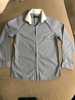NEXT Blue with white dots Boys shirt - age 12yrs. BNWOT
