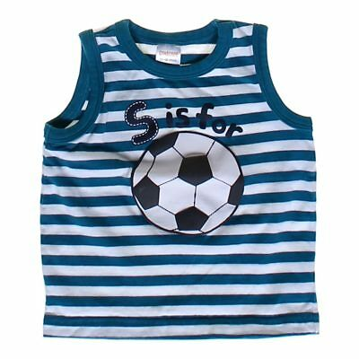 """Gymboree Baby Girls  """"S is for Soccer"""" Tank Top, size 12 mo,  blue/navy, white"""
