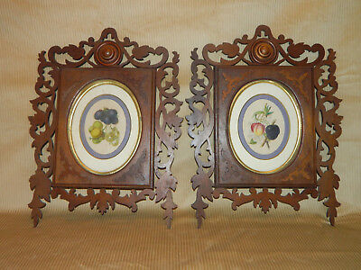 Pair~~Walnut Victorian Open carved Frames with Oval Interior