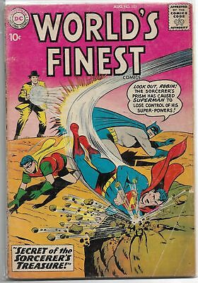 World's Finest #103 DC 1959 Silver Age Comic VG/VG+ (Tommy Tomorrow App.)