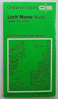 1973 old OS Ordnance Survey Second Series Pathfinder Map NG 87/97 Loch Maree (N)