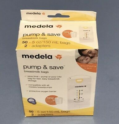 Medela Pump and Save Breast Milk Bags, 50 Count - NEW