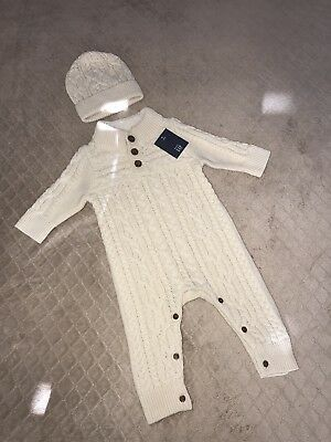 Nwt Baby Gap Cable Knit Outfit Boy 3-6 Mos