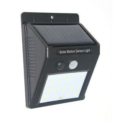 Energía solar de pared con sensor de movimiento 20-48LED impermeable lampara luz
