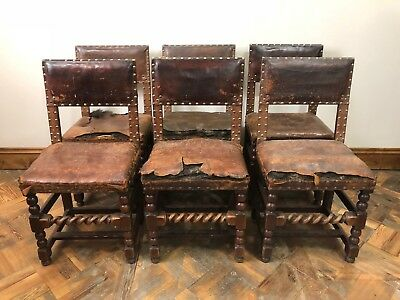 Set of 6 Late 17th Century Oak Chairs  - Delivery Available