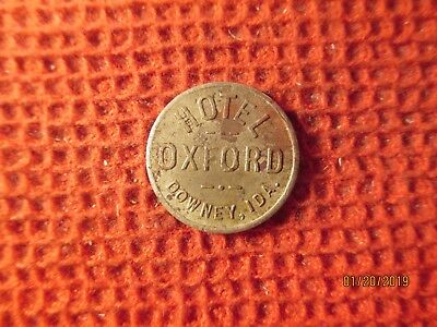 Downey, Idaho German Silver Hotel Cigar Trade Token