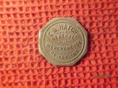 Driggs, Idaho German Silver General Merchandise Trade Token
