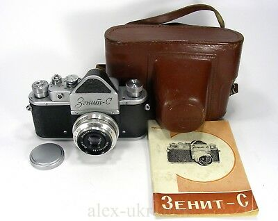 Rare Russian Zenit-C with Industar-50 lens 35-mm film camera M39 mount.Exc+.CLA
